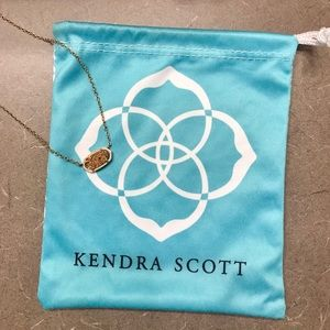 Kendra Scott rose gold dusted chocked necklace